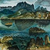 Blabheinn from Ord the Golden Shore by John Slavin, Painting, Oil on Board