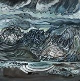 Rocky Terrible Cuillin by John Slavin, Painting, Oil on canvas