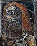 Zeus at Fountainbridge by John Slavin, Painting, Acrylic on canvas