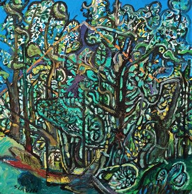 Cardou from Las Heiros Forest by John Slavin, Painting, Oil on canvas