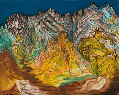 From the Col d'Agnes by John Slavin, Painting, Oil on canvas