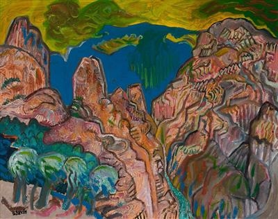 Gorge de Galamus by John Slavin, Painting, Oil on canvas