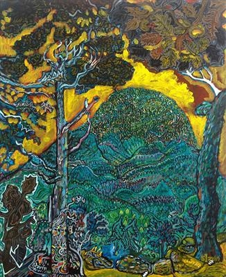 The Green Woods of Cardou by John Slavin, Painting, Acrylic on canvas